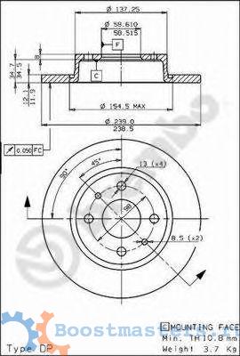 Фото №25 - толщина нового тормозного диска ВАЗ 2110